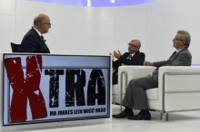 During a TV discussion.