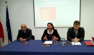 During the launch of the new Teachers' Code of Ethics.
