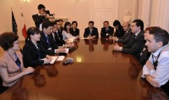 Meeting with delegation as part of the EU-China year of youth.