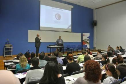 Conducting a presentation during ICI Seminar.