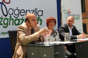 During a press conference on European Youth Week activities.