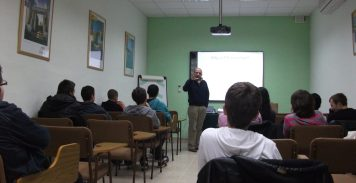 During a training session on informal education