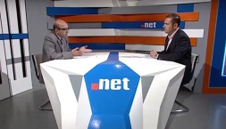 During a TV interview on NET.