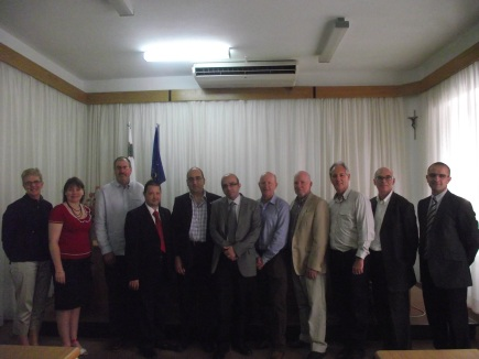 Hosting a foreign delegation and MSEAM at the MUT premises in Valletta.