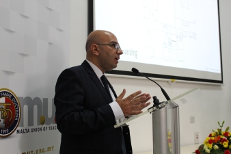 page 33 - 100 sena activities - Marco Bonnici speaking during inauguration on new premises November